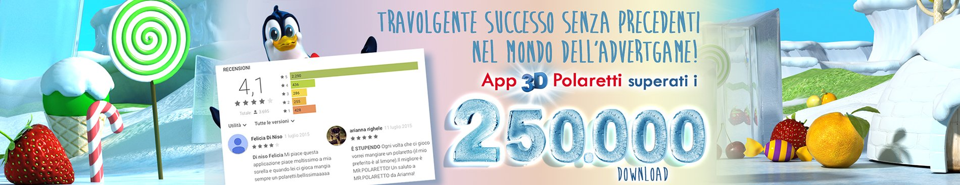 250.000 download App Polaretti