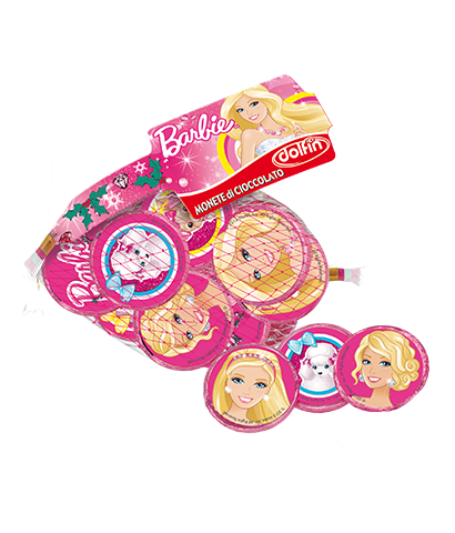 Barbie milk chocolate coins, 45 g
