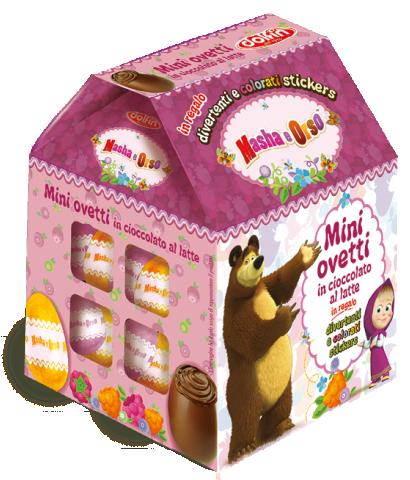 Casetta Masha e Orso con mini ovetti, 100 g