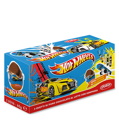 Tripack Ovetti Hot Wheels 60 g